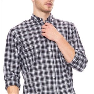 New Frank & Eileen Black Plaid Luke Shirt S